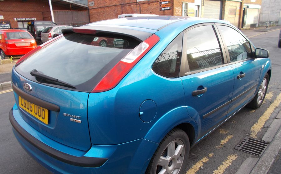 Ford Focus Sport Blue Nearside Back.