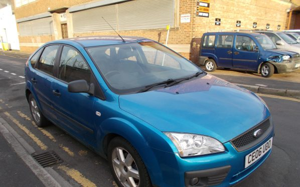 Ford Focus Sport Blue Nearside Front.