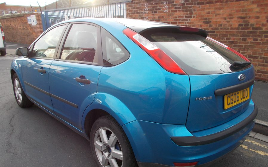 Ford Focus Sport Blue Offside Back.
